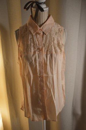 H&M Conscious Exclusive Blouse sans manche rose chair coton