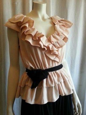 rosa Bluse H&M mit Rüschen