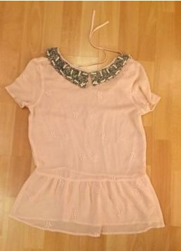 rosa bluse mit beads