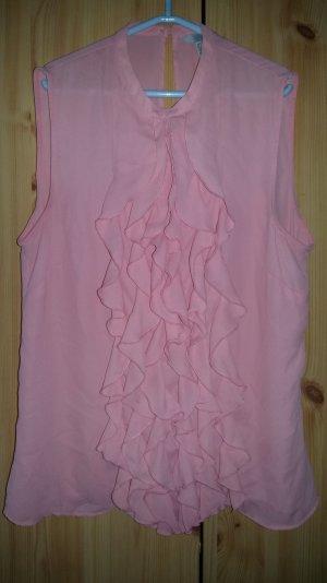 Rosa Bluse mit Rüschen vorne H&M