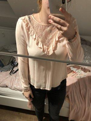 H&M Blusa in merletto rosa