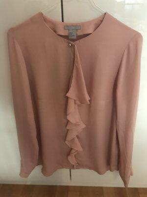 H&M Ruche blouse roségoud-roze