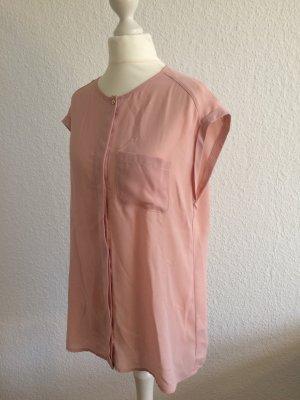 Rosa Bluse | Transparente Bluse | Bluse mit kurzen Ärmeln