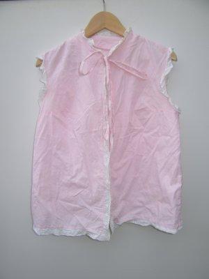 rosa Bluse Vintage Retro Spitzen Gr. S/M