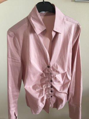 rosa Bluse von René Lezard, Größe 34
