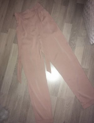 Pull & Bear Pleated Trousers rose-gold-coloured