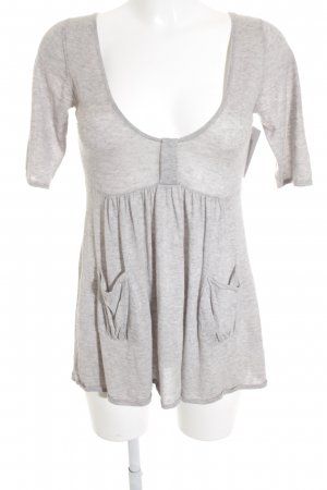 Rosa Cashmere Knitted Top light grey elegant