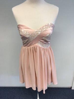 Rosa Cocktailkleid trägerlos