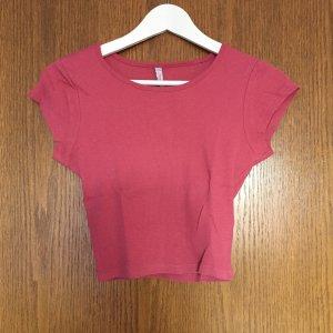 Fishbone Top corto rosa