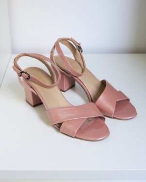 Drievholt Sandalias de tacón de tiras color rosa dorado-rosa empolvado Cuero