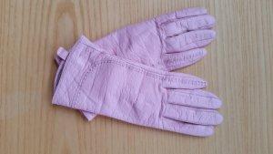 Rosa Echtlederhandschuhe in Größe 7