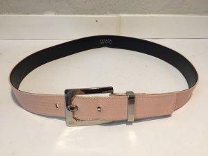 Escada Cinturón de cuero color plata-rosa