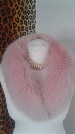 Rosa Fake Fur Kragen