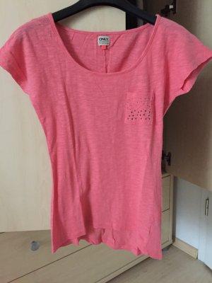 rosa farbenes T-Shirt von Only
