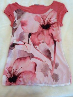 Rosa farbenes top mit Blüten Applikation