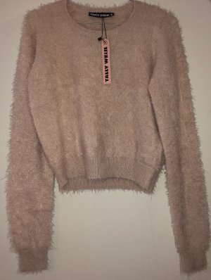 Rosa flauschiger Pullover