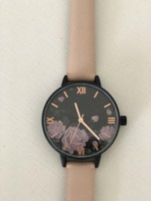 Rosa Floral Uhr