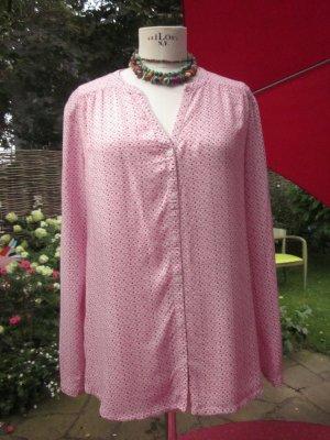 rosa gemusterte Bluse von Clarina