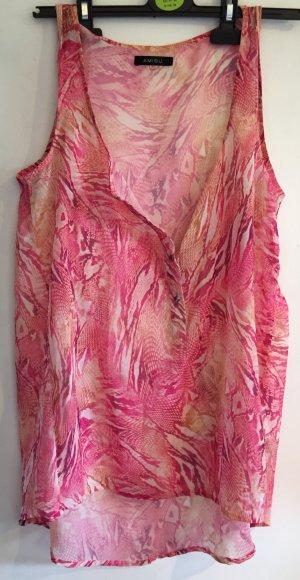 Rosa gemusterte oversized Bluse von AMISU