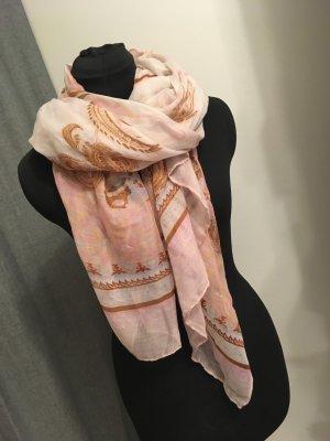 rosa gemusterter Tuchschal