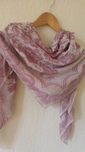 Shoulder Scarf pink-white silk