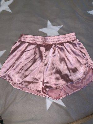 Rosa glänzende Shorts