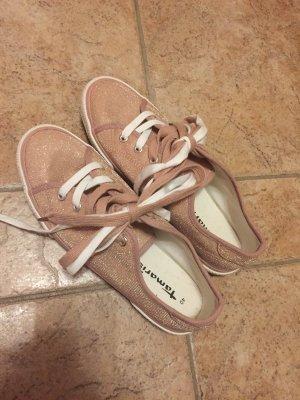 Rosa Glitzer Schuhe von Tamaris