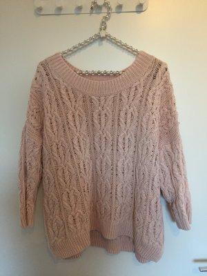 Rosa Grobstrick Pullover von H&M
