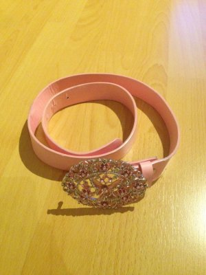 Faux Leather Belt light pink