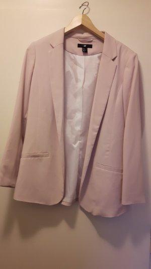 rosa H&M Blazer mit schmalem Revers