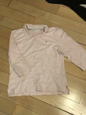 Rosa Halbarm Polo Shirt von Tommy Hilfiger