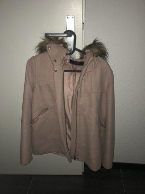 Zara Giacca di pelliccia rosa