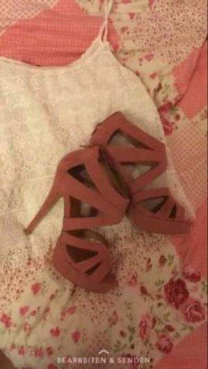 rosa High heels Absatzschuhe hohe Sandaletten NEU