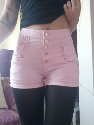 Hoge taille broek roze