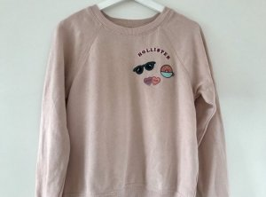 Rosa Hollister Pullover bestickt Größe S