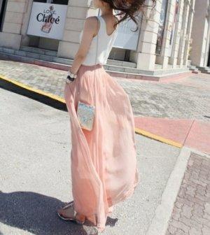 rosa hose für den sommer rockhose luftig