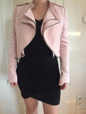Zara Chaqueta corta rosa claro