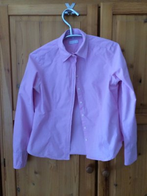 Rosa Karo Bluse ohne Stretch