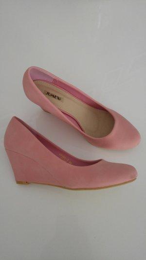 rosa Keilpumps Gr 39