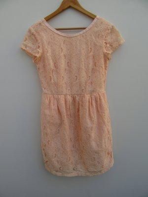 rosa Kleid Damen H&M Gr. 40 Spitzen