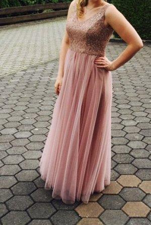 Rosa Kleid mit Glitzer