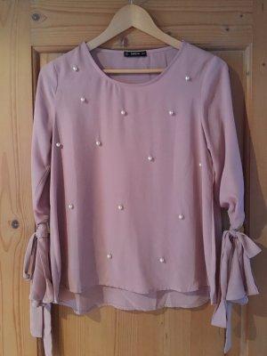 rosa/lachsfarbene Bluse