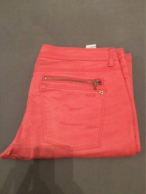 Zara Basic Pantalon taille basse saumon-rouge clair