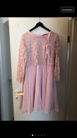 Clocolor Kanten jurk lichtroze-roze