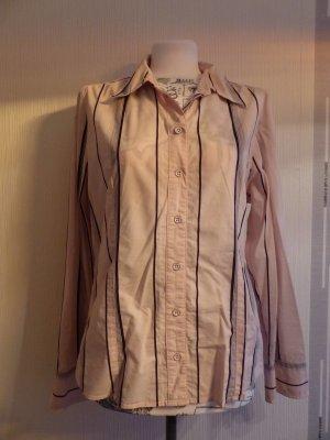 rosa langarm Bluse mit feinen blauen Streifen - super Zustand