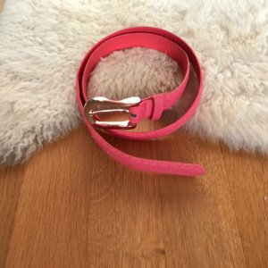 Hallhuber Faux Leather Belt pink imitation leather