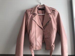 rosa Lederjacke