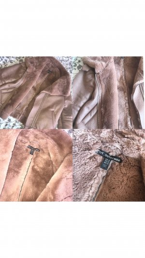 Zara Veste en cuir or rose