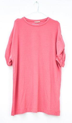 Rosa Longshirt von Zara in Größe S