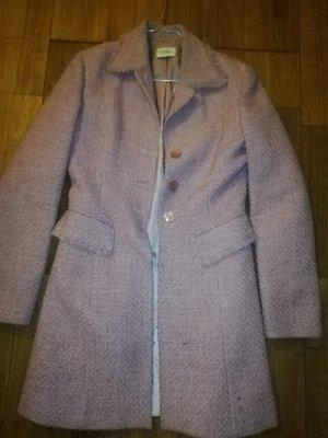 Cappotto in lana rosa chiaro
